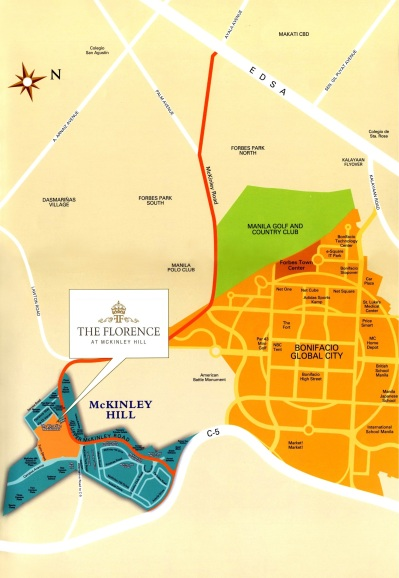 Mckinley florence Map Fort Bonifacio
